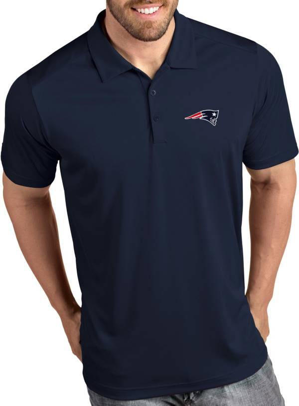 Antigua Men's New England Patriots Tribute Navy Polo product image