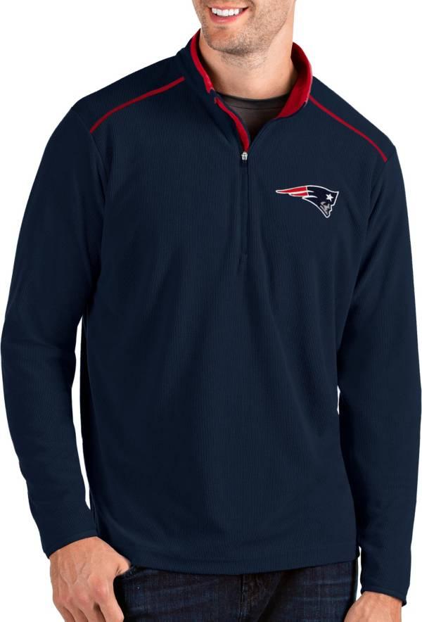 Antigua Men's New England Patriots Glacier Navy Quarter-Zip Pullover product image
