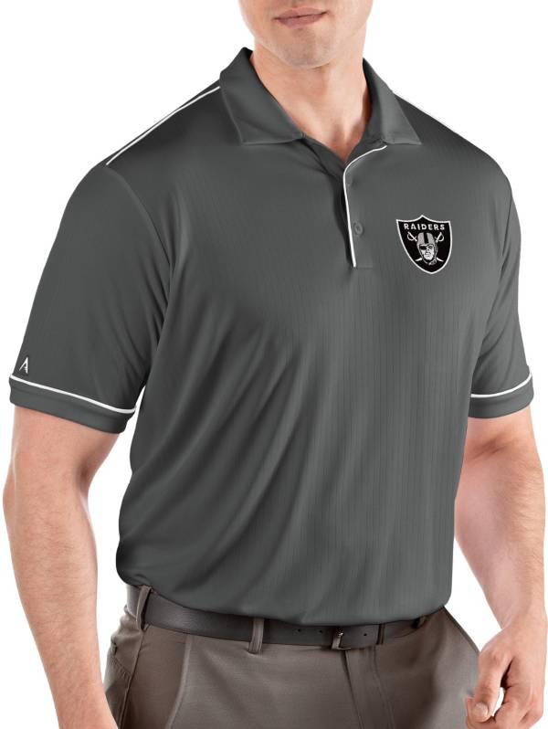 Antigua Men's Las Vegas Raiders Salute Grey Polo product image
