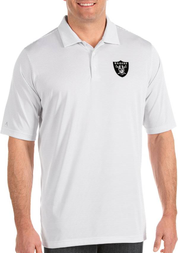 Antigua Men's Las Vegas Raiders Quest White Polo product image
