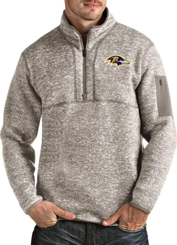 Antigua Men's Baltimore Ravens Fortune Quarter-Zip Oatmeal Pullover product image