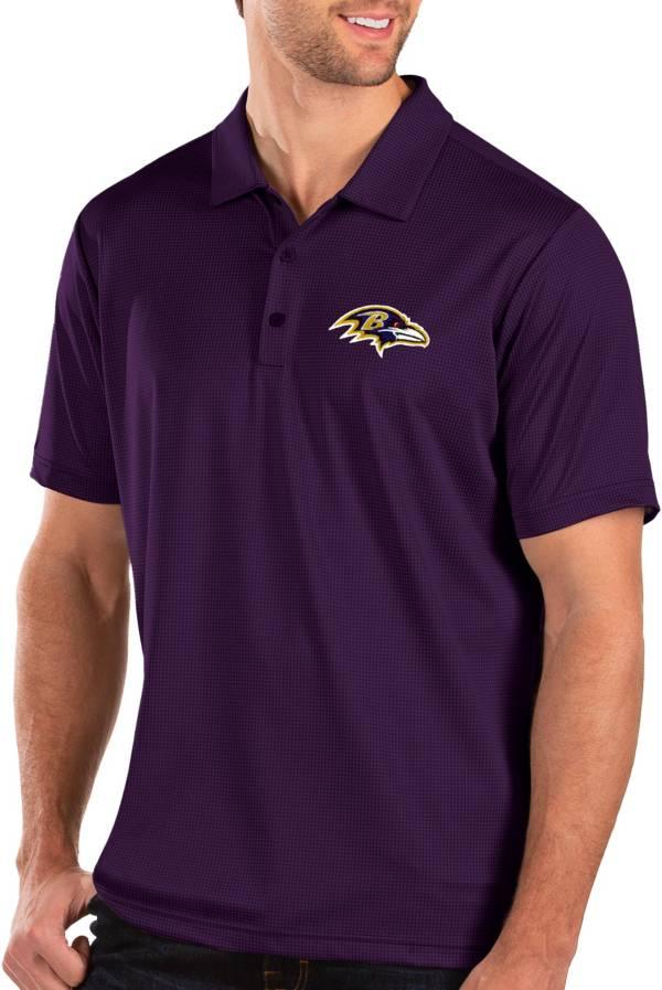 Antigua Men's Baltimore Ravens Balance Purple Polo product image