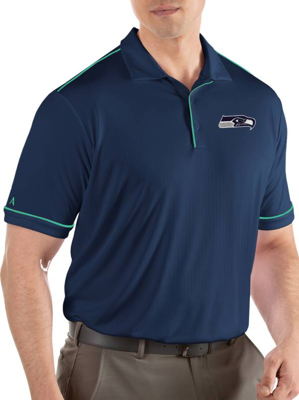 Antigua Men's Seattle Seahawks Salute Navy Polo product image