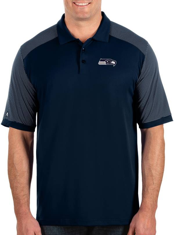 Antigua Men's Seattle Seahawks Engage Performance Navy Polo product image