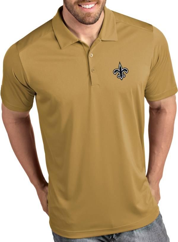 Antigua Men's New Orleans Saints Tribute Gold Polo product image