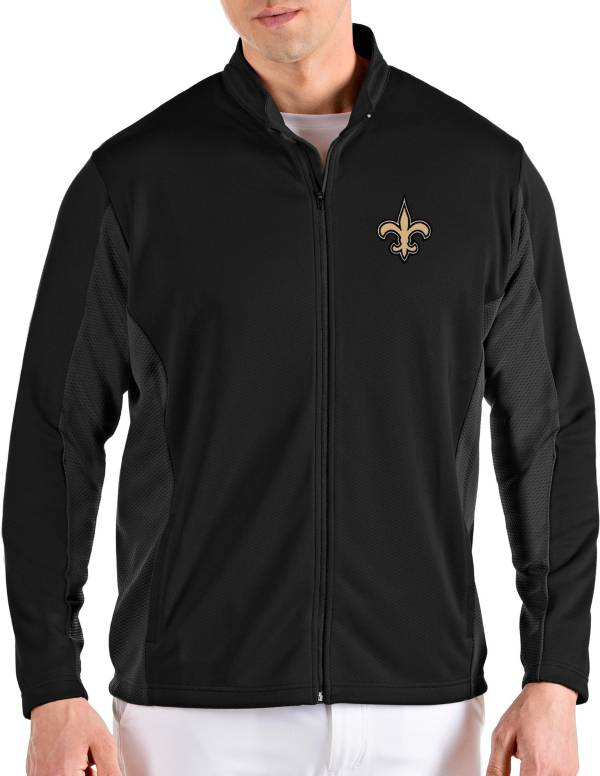 Antigua Men's New Orleans Saints Passage Black Full-Zip Jacket product image