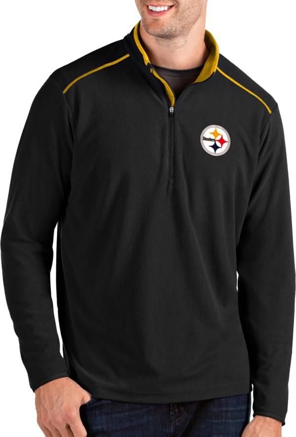 Antigua Men's Pittsburgh Steelers Glacier Black Quarter-Zip Pullover product image