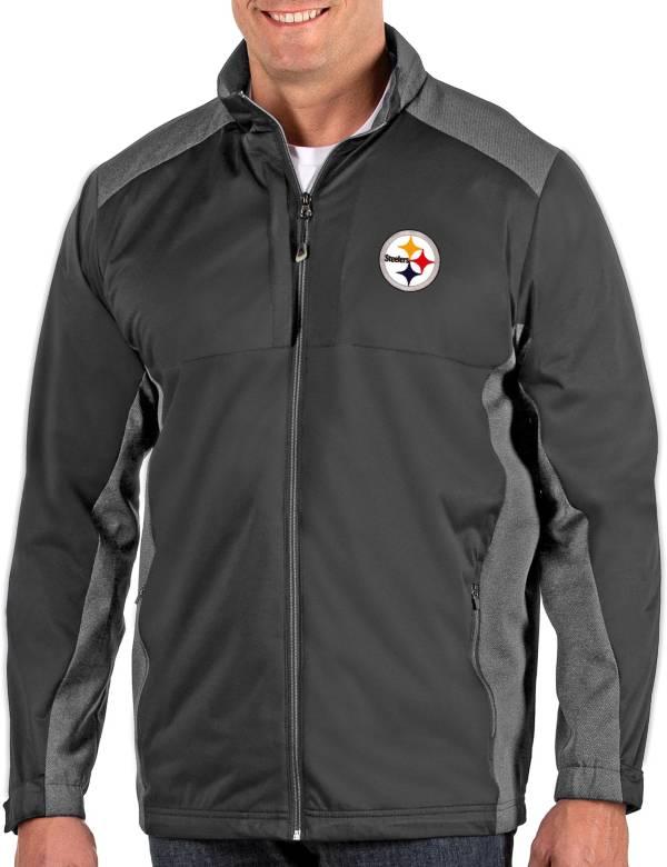 Antigua Men's Pittsburgh Steelers Revolve Charcoal Full-Zip Jacket product image