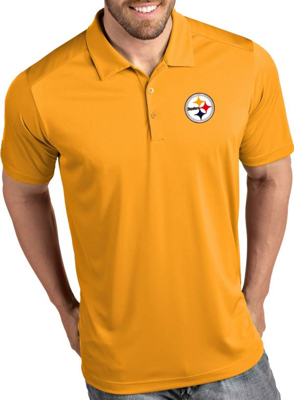 Antigua Men's Pittsburgh Steelers Tribute Gold Polo product image