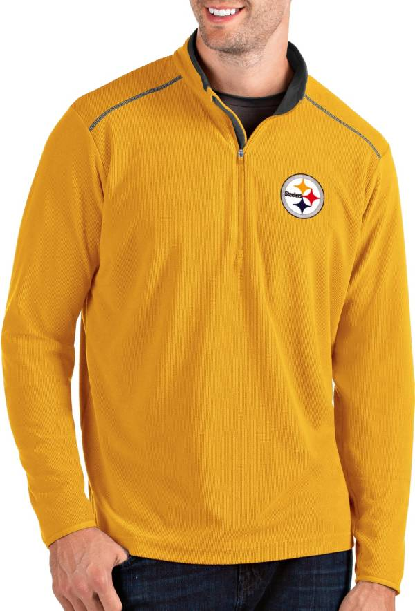 Antigua Men's Pittsburgh Steelers Glacier Gold Quarter-Zip Pullover product image