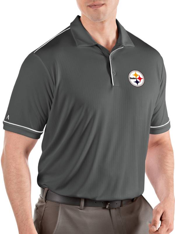 Antigua Men's Pittsburgh Steelers Salute Grey Polo product image