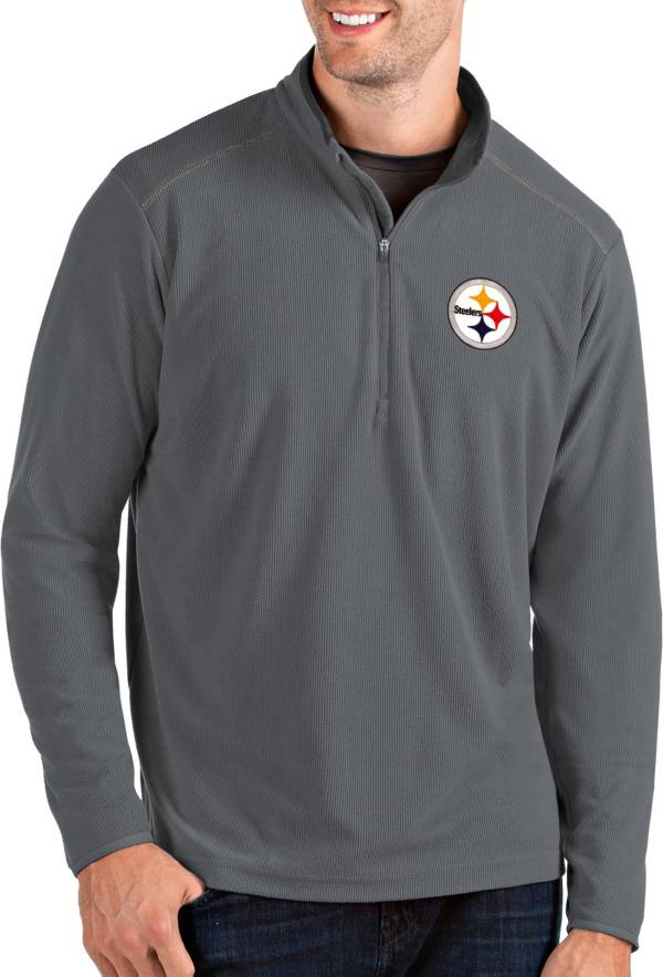 Antigua Men's Pittsburgh Steelers Glacier Grey Quarter-Zip Pullover product image