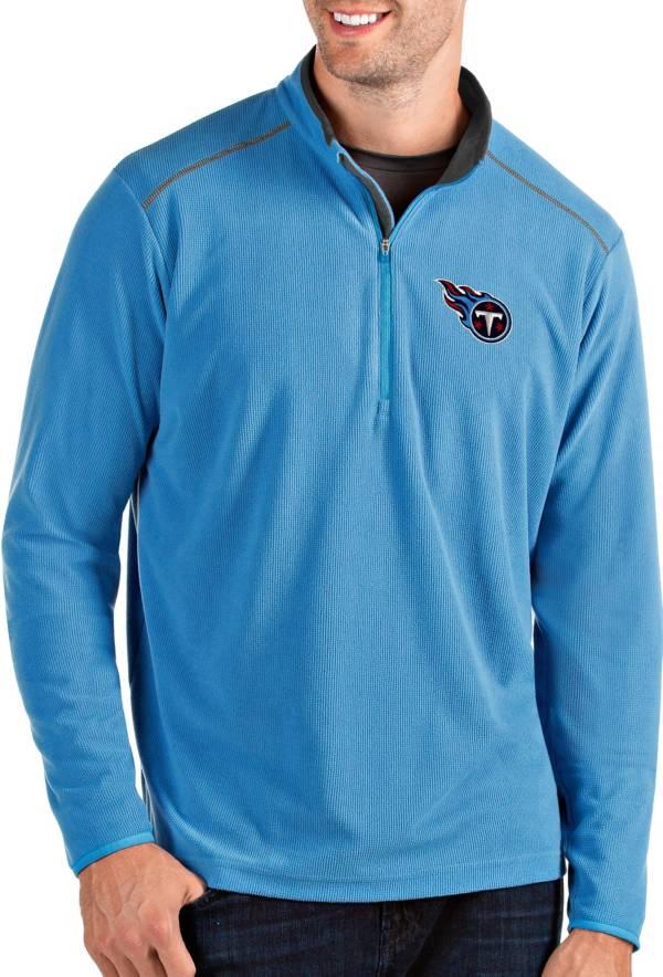 Antigua Men's Tennessee Titans Glacier Blue Quarter-Zip Pullover product image