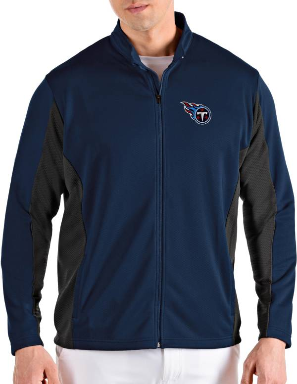 Antigua Men's Tennessee Titans Passage Navy Full-Zip Jacket product image