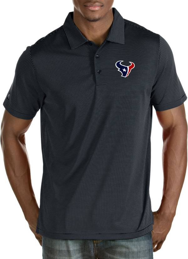 Antigua Men's Houston Texans Quest Navy Polo product image