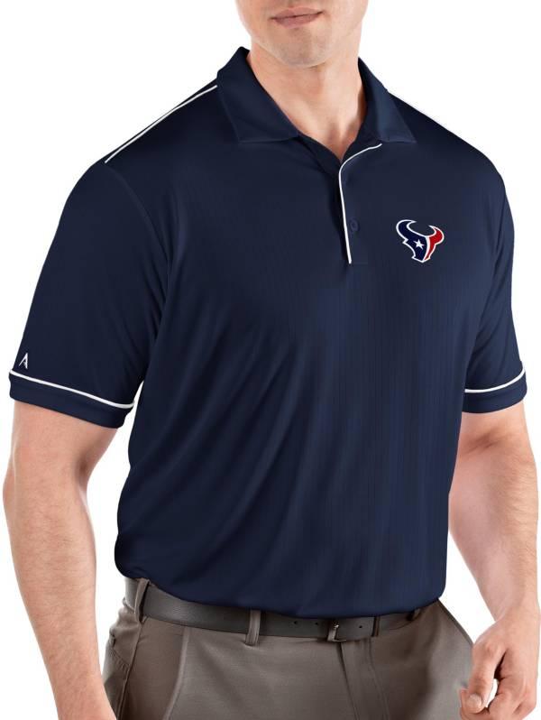 Antigua Men's Houston Texans Salute Navy/White Polo product image
