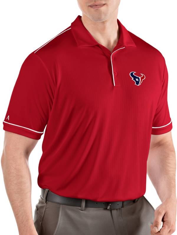 Antigua Men's Houston Texans Salute Red Polo product image