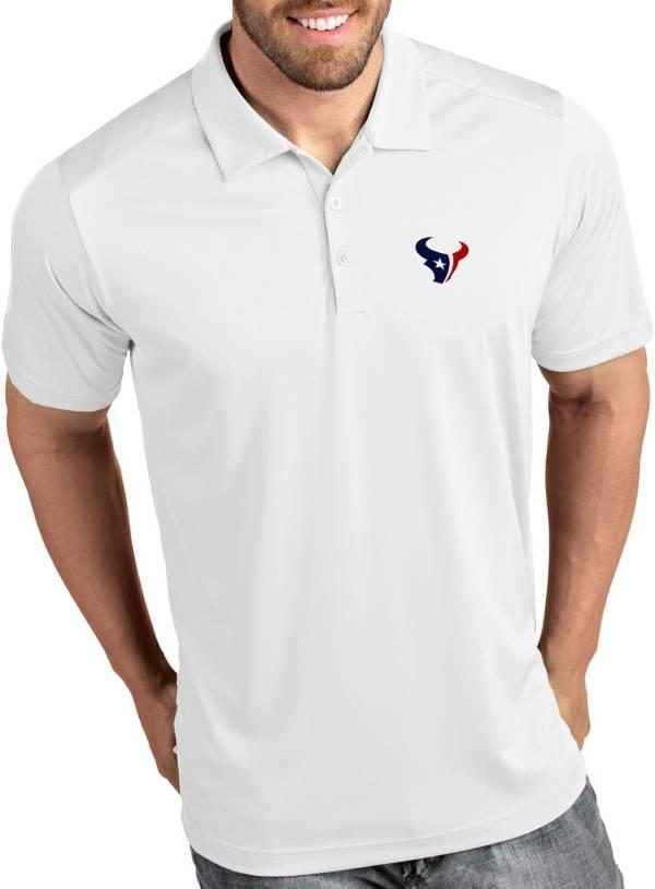 Antigua Men's Houston Texans Tribute White Polo product image