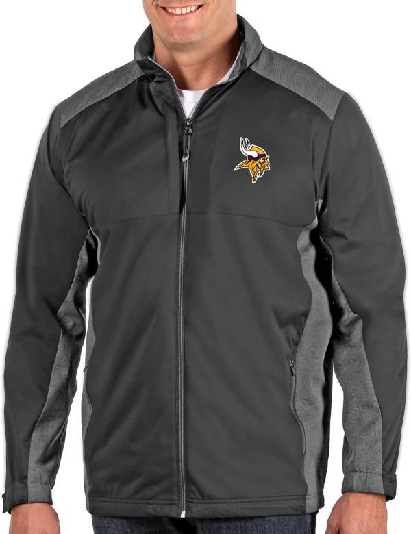 Antigua Men's Minnesota Vikings Revolve Charcoal Full-Zip Jacket product image