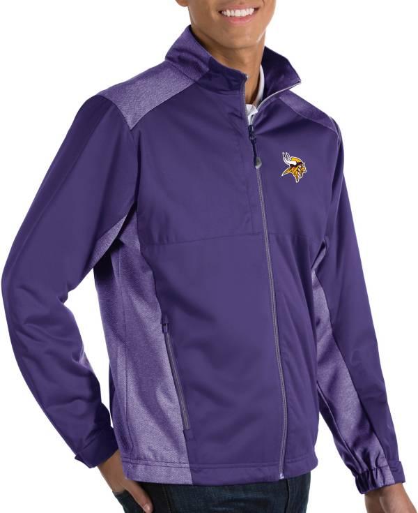 Antigua Men's Minnesota Vikings Revolve Purple Full-Zip Jacket product image