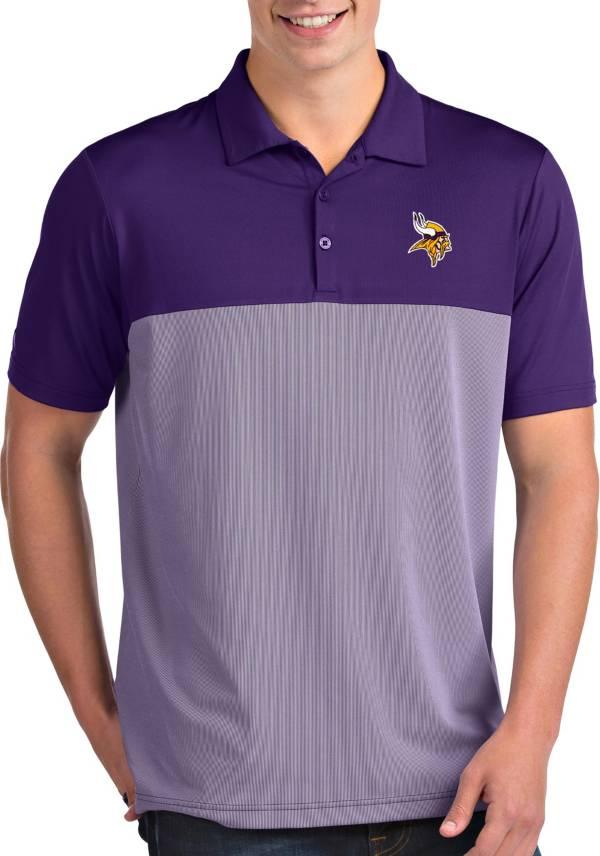 Antigua Men's Minnesota Vikings Venture Purple Performance Polo product image