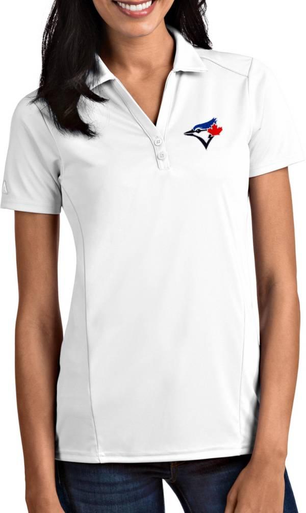 Antigua Women's Toronto Blue Jays Tribute White Performance Polo product image