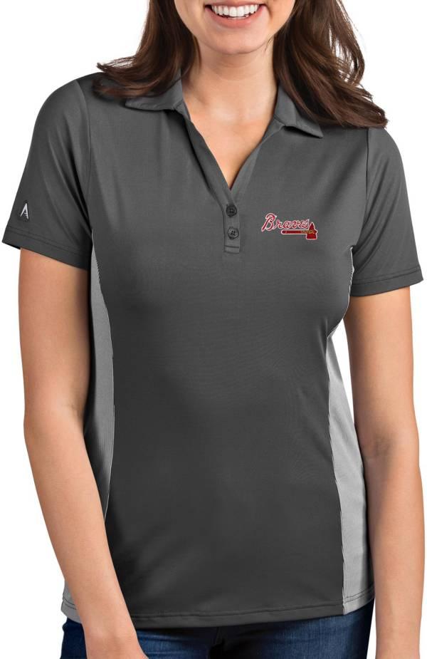 Antigua Women's Atlanta Braves Venture Grey Performance Polo product image