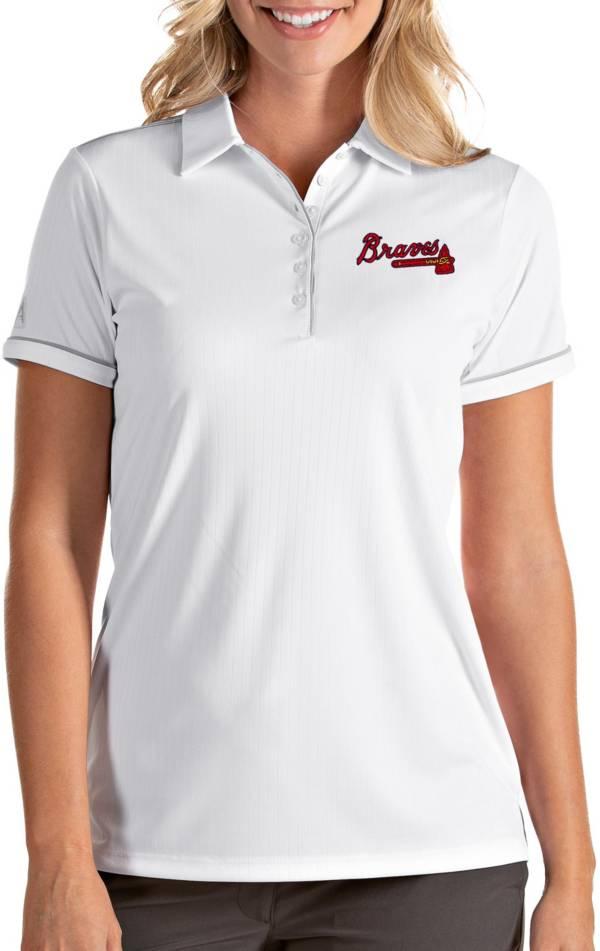 Antigua Women's Atlanta Braves Salute White Performance Polo product image