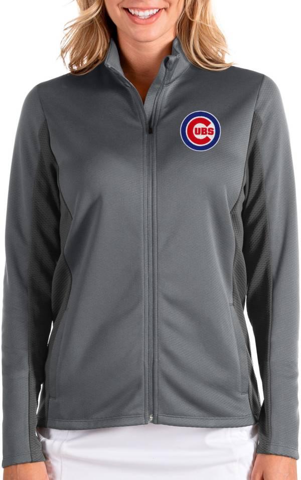 Antigua Women's Chicago Cubs Grey Passage Full-Zip Jacket product image
