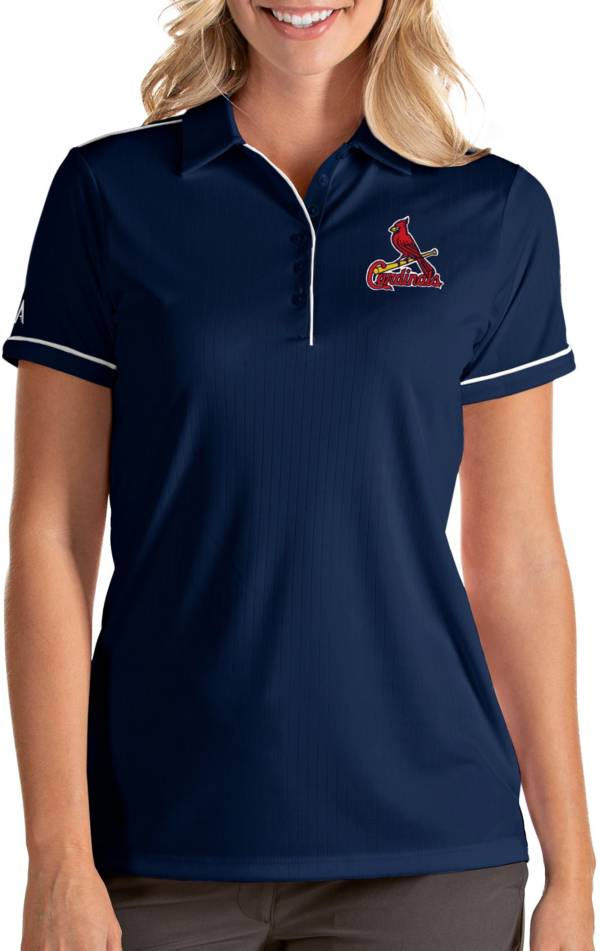 Antigua Women's St. Louis Cardinals Salute Navy Performance Polo product image