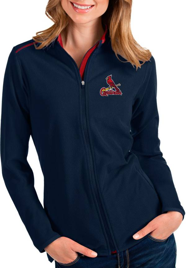 Antigua Women's St. Louis Cardinals Navy Glacier Full-Zip Jacket product image