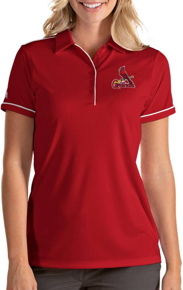 Antigua Women's St. Louis Cardinals Salute Red Performance Polo product image