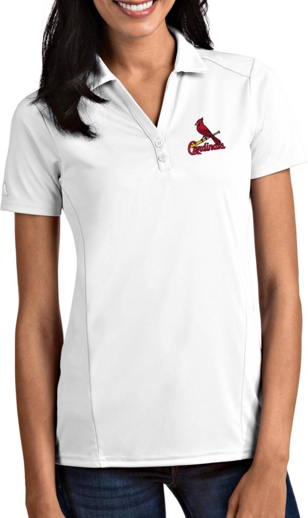 Antigua Women's St. Louis Cardinals Tribute White Performance Polo product image