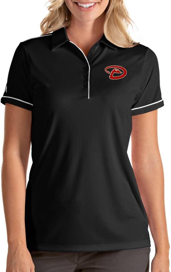 Antigua Women's Arizona Diamondbacks Salute Black Performance Polo product image
