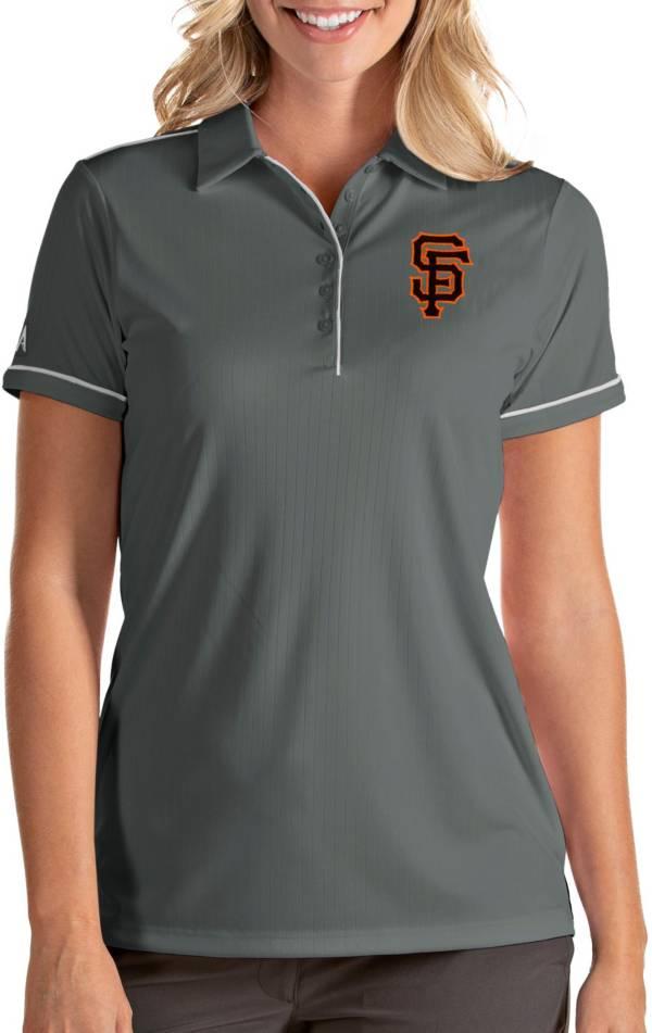 Antigua Women's San Francisco Giants Salute Grey Performance Polo product image