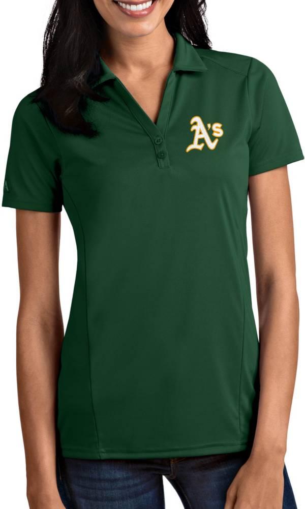 Antigua Women's Oakland Athletics Tribute Green Performance Polo product image