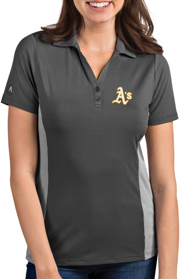 Antigua Women's Oakland Athletics Venture Grey Performance Polo product image