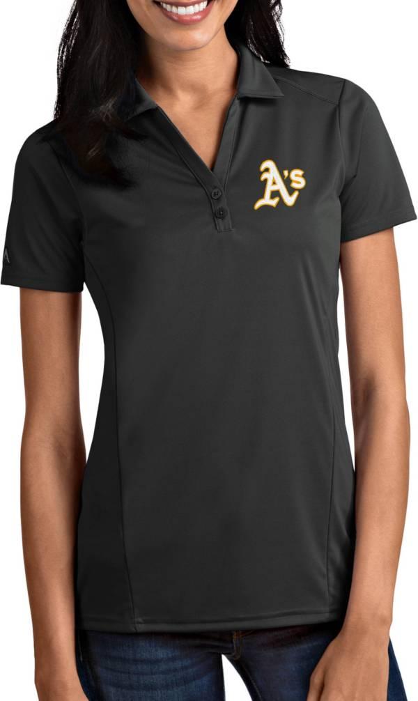 Antigua Women's Oakland Athletics Tribute Grey Performance Polo product image