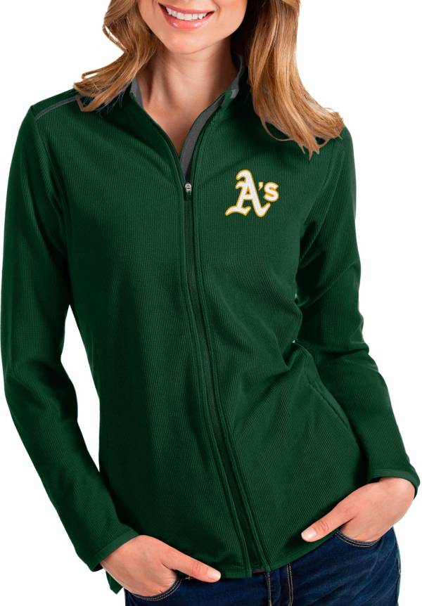Antigua Women's Oakland Athletics Green Glacier Full-Zip Jacket product image