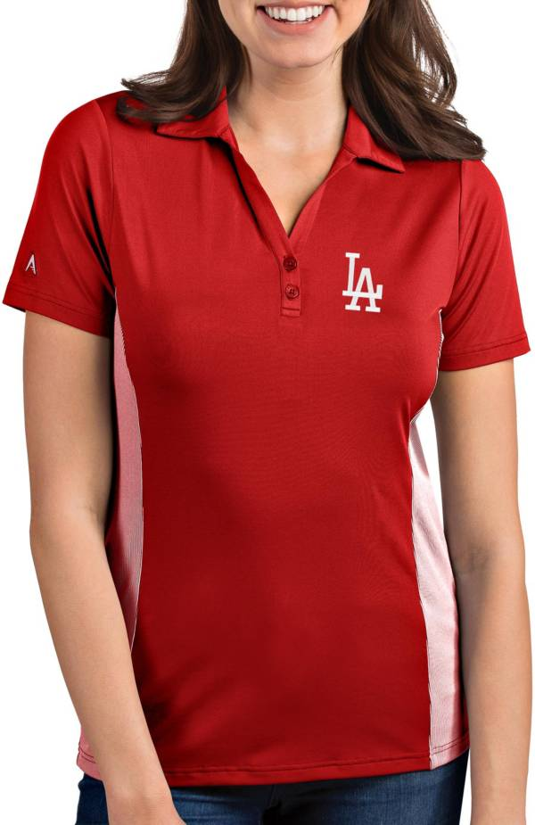 Antigua Women's Los Angeles Dodgers Venture Red Performance Polo product image