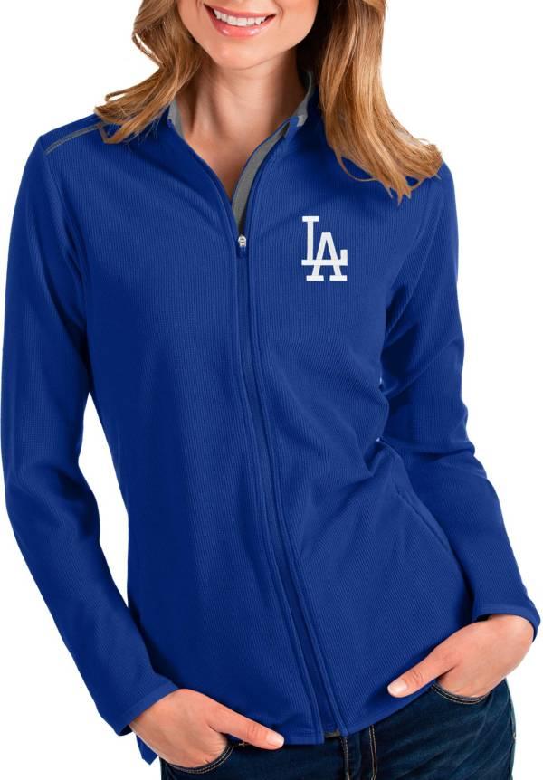 Antigua Women's Los Angeles Dodgers Royal Glacier Full-Zip Jacket product image