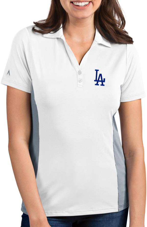 Antigua Women's Los Angeles Dodgers Venture White Performance Polo product image