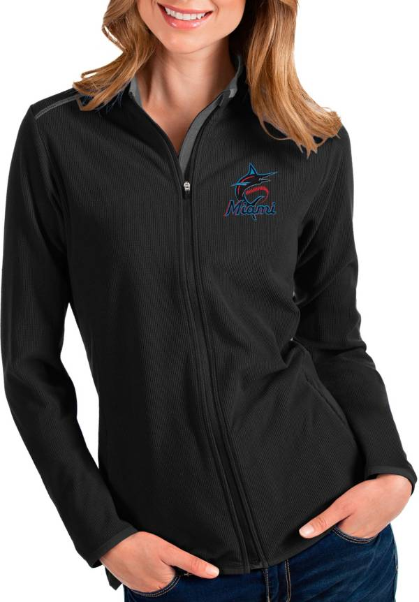 Antigua Women's Miami Marlins Black Glacier Full-Zip Jacket product image