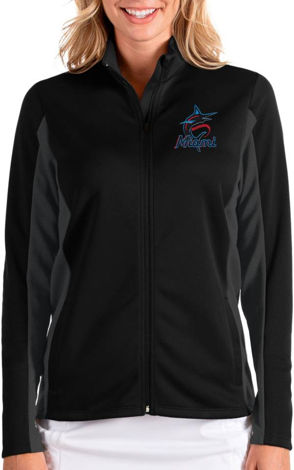 Antigua Women's Miami Marlins Black Passage Full-Zip Jacket product image