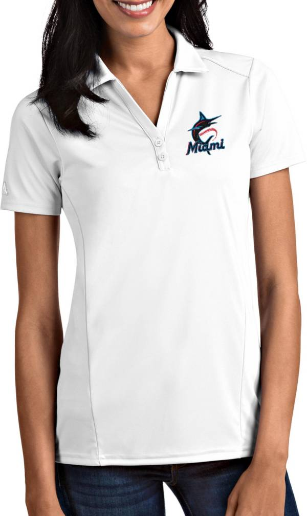 Antigua Women's Miami Marlins Tribute White Performance Polo product image