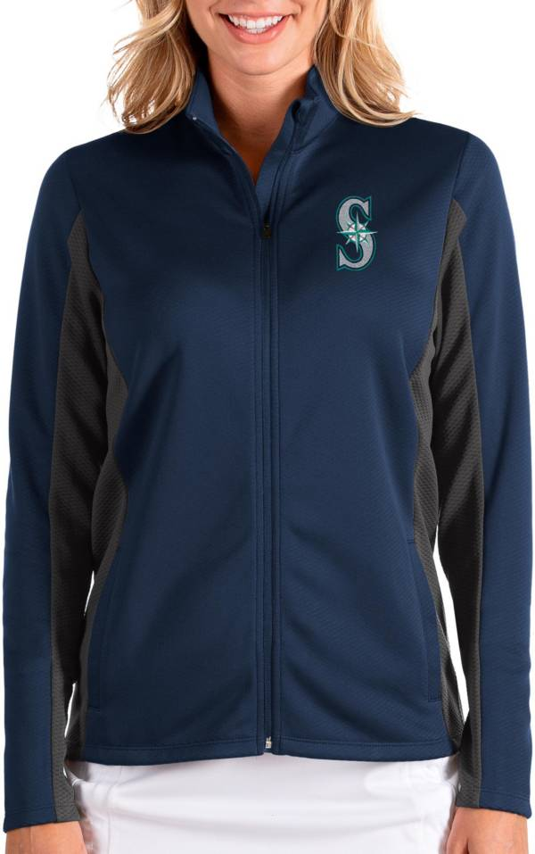 Antigua Women's Seattle Mariners Navy Passage Full-Zip Jacket product image