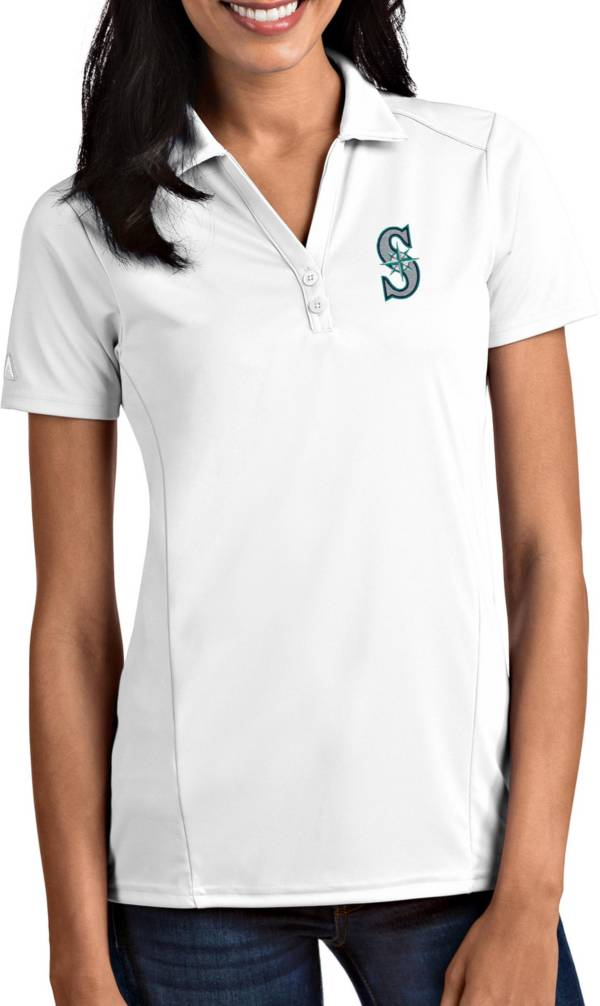 Antigua Women's Seattle Mariners Tribute White Performance Polo product image