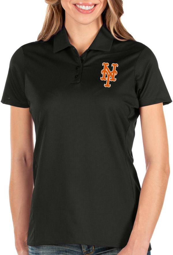 Antigua Women's New York Mets Black Balance Polo product image