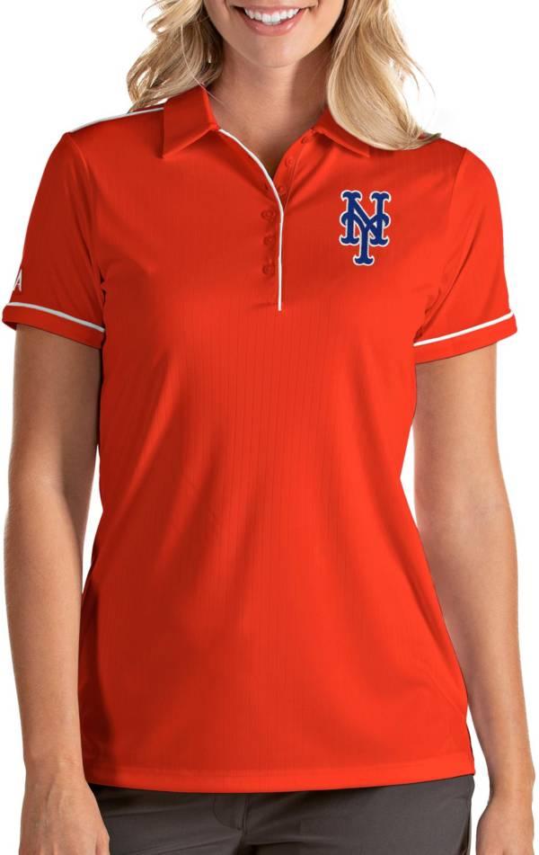 Antigua Women's New York Mets Salute Orange Performance Polo product image