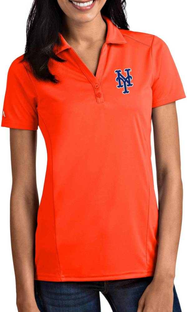 Antigua Women's New York Mets Tribute Orange Performance Polo product image